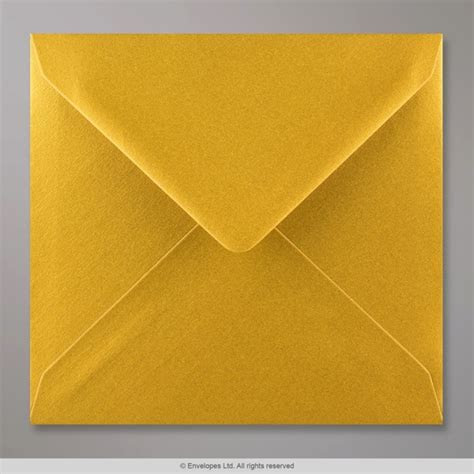 155x155 mm Metallic Gold Envelope   D04155   Simply Envelopes