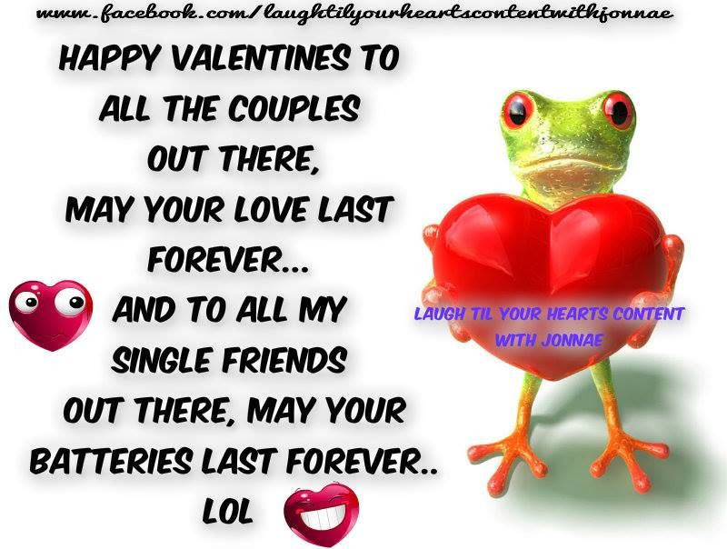 Funny Happy Valentines Day Quote For Couples And Singles Pictures