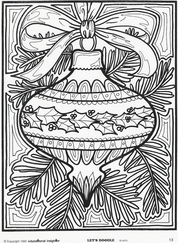 470 Christmas Coloring Pages Doodle Art Pictures