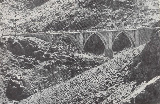 Puente sobre el Arroyo de la Degollada antes de 1973