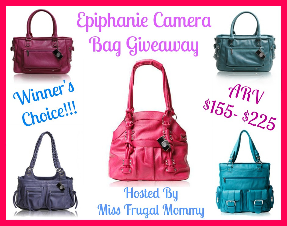 Epiphanie Camera Bag Giveaway (Winner's Choice) Ends 4/8.