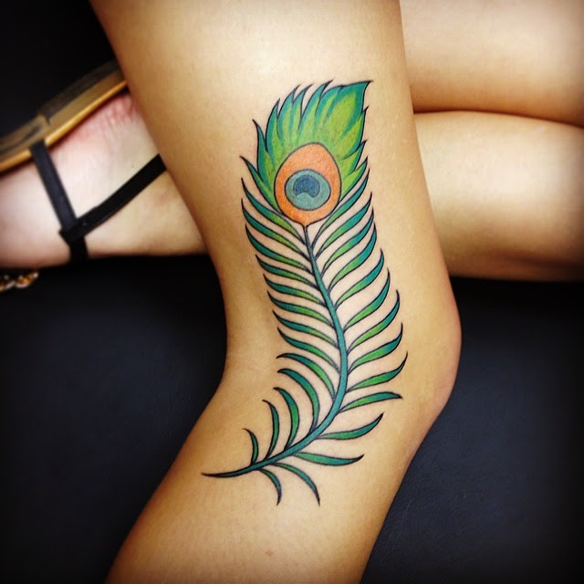 35 Colorful Peacock Feather Tattoo Meaning Designs 2019