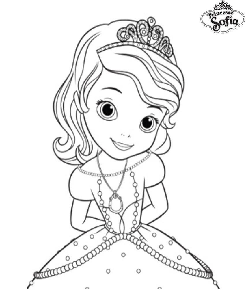 coloriage princesse sofia sage