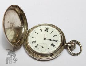 Antiguo Reloj De Bolsillo Longines Tres Tapas De Plata Siglo Xix