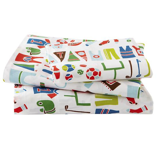 Gears Sheet Set (Twin) in Sheet Sets | The Land of Nod