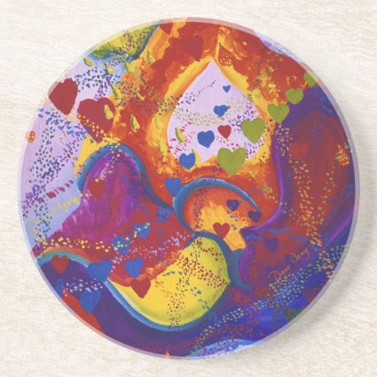 The Power of Love, Underground, Hearts, Abstract Drink Coaster