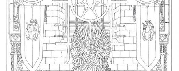 Game Of Thrones Second Livre De Coloriage Officiel En Octobre