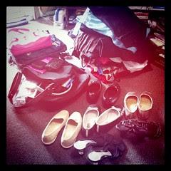 de-cluttering clothes, shoes & bags