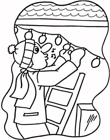 Dibujo De Luces En La Casa Para Colorear Dibujos Para Colorear