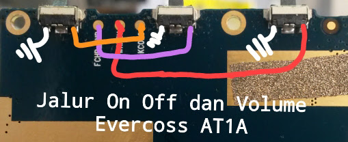 Evercoss AT1A Volume Up Down Keys Not Working Problem Solution Jumpers