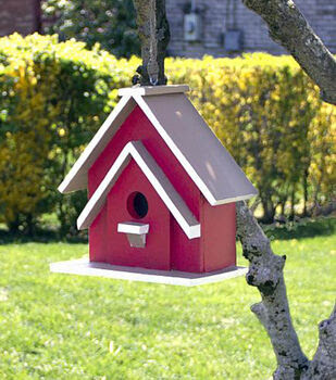 Painted Red Barn Birdhouse