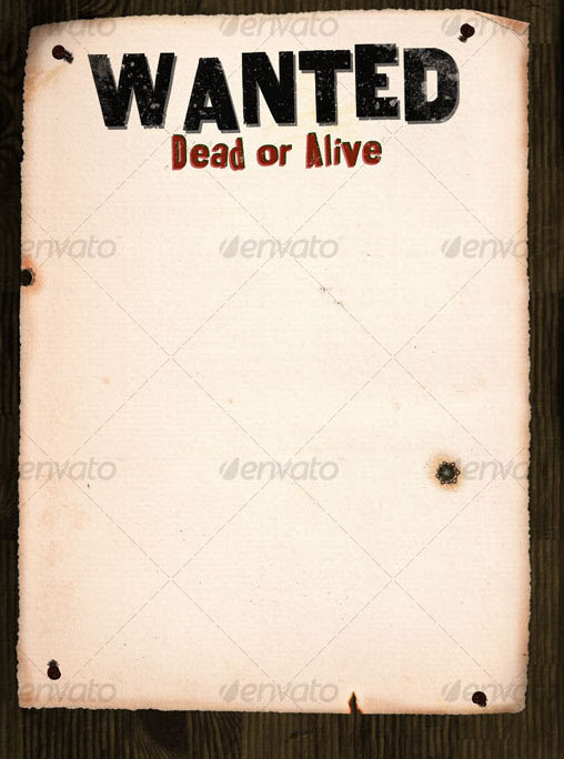 Editable Old Wanted Poster Template | Performance Evaluation Form ...