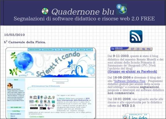 http://quadernoneblu.splinder.com/post/22375576/5%C2%B0+Carnevale+della+Fisica.