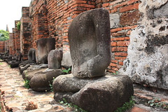 Lots of Headless Buddhas