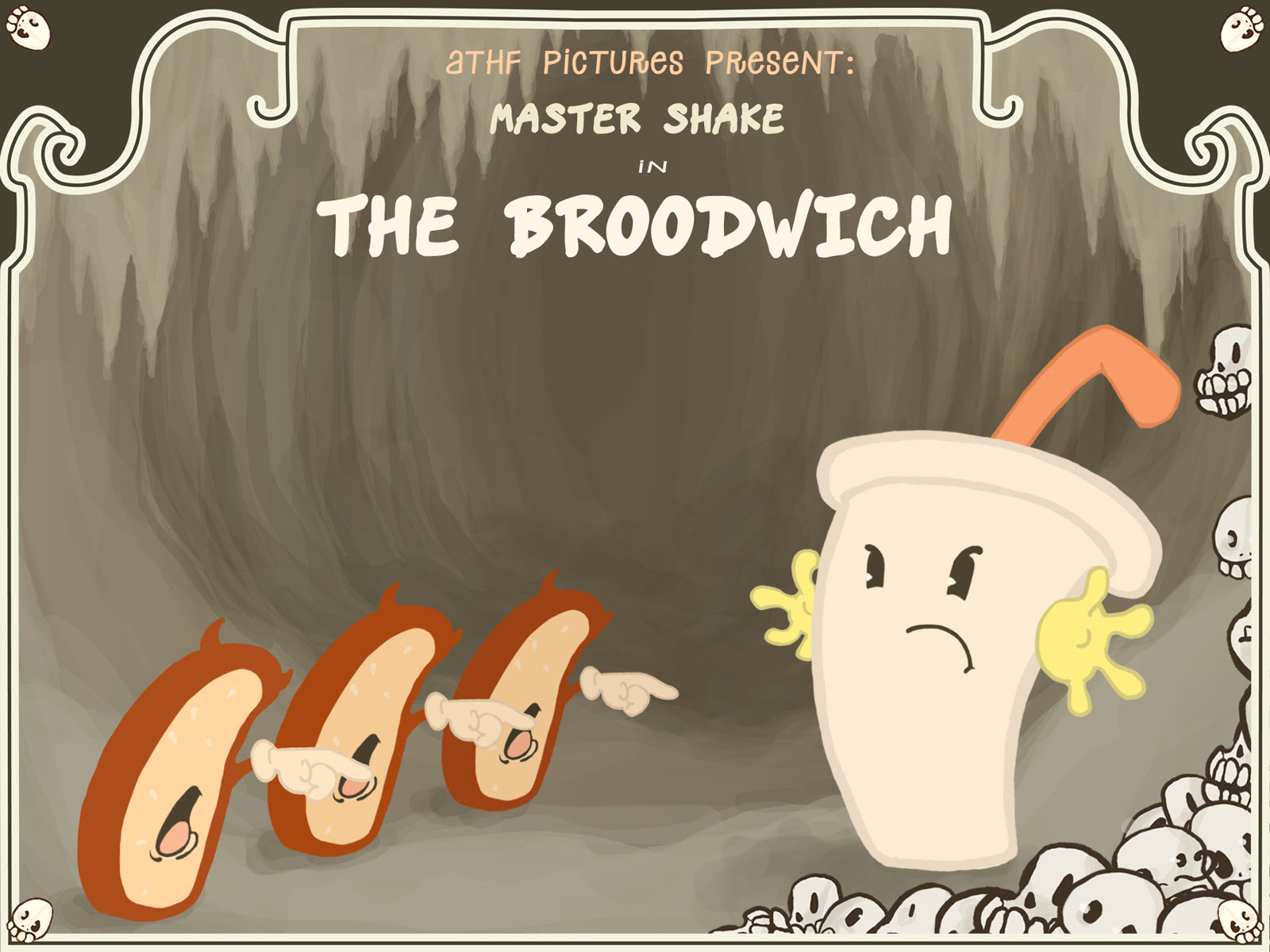 Master Shake In The Broodwich Aqua Teen Hunger Force Wallpaper