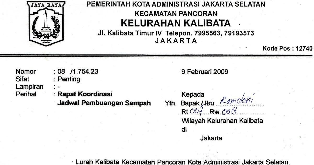 Contoh Surat Resmi Gotong Royong Csl Kerja