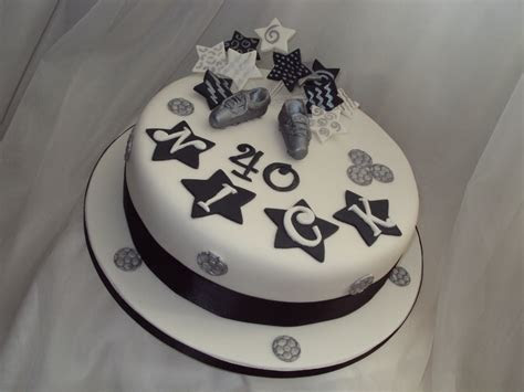 Black, White & Silver 40Th Birthday Cake   CakeCentral.com
