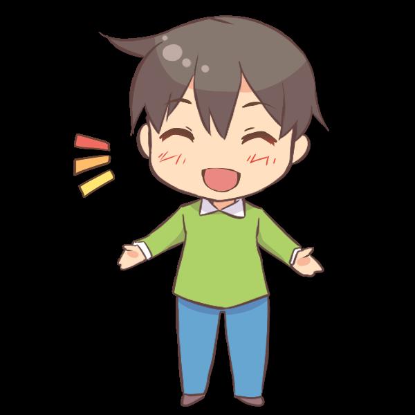 笑顔の男の子のイラスト かわいいフリー素材が無料のイラストレイン