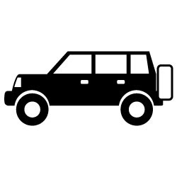 黒い自動車クロカン4wd車の無料イラストc33