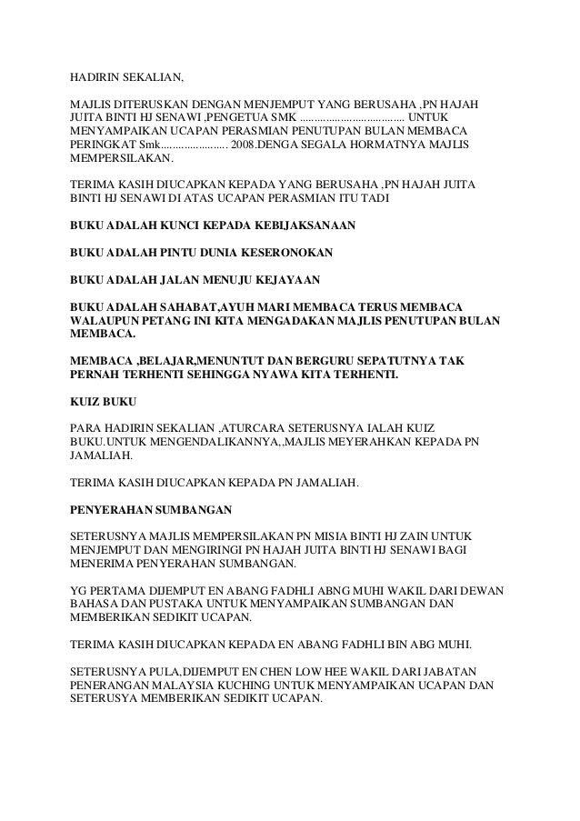 Teks Ucapan Hip English Language Malaysia