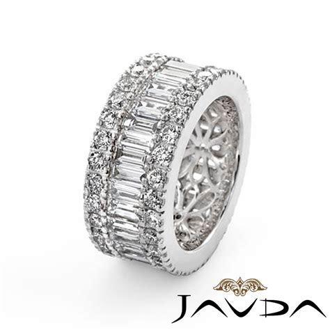 Women's Wedding Ring Baguette Round Diamond Eternity Band