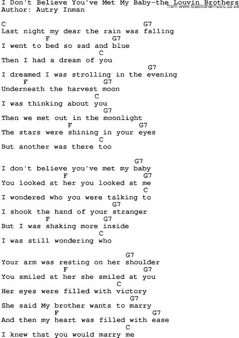 I Don T Believe You Ve Met My Baby Lyrics