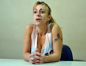 Atriz pornô nega participação em crime (Foto: Hélder Rafael/G1 MS)