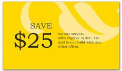 CPS-1015 - salon coupon card