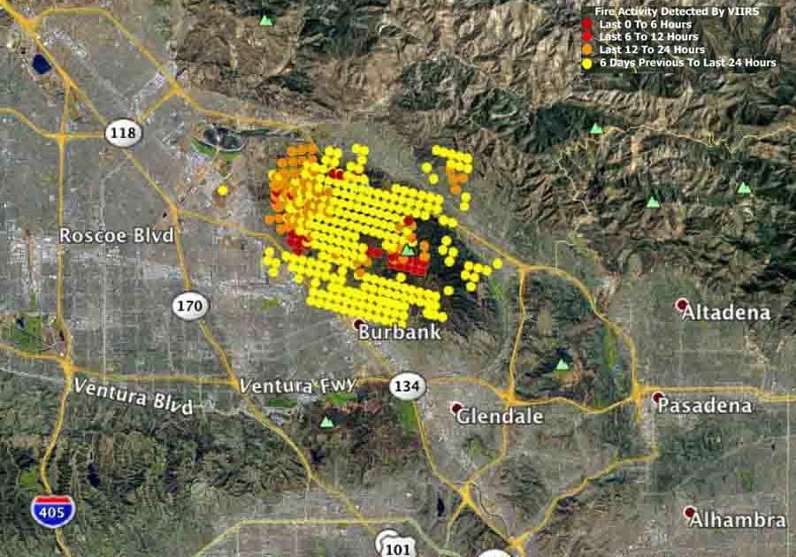 La Wild Fire Map Global Map