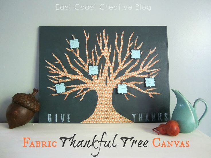 Ucreate: Fabric Thankful Tree Canvas by East Coast Creative