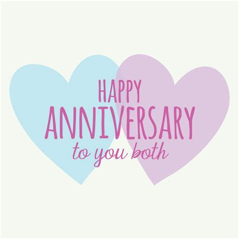 Happy anniversary to you both heart design by