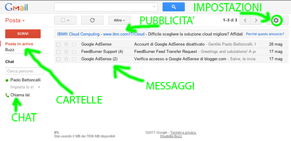 Interfaccia Gmail