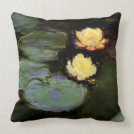 Water-Lilies: 1897-98 by Monet throwpillow
