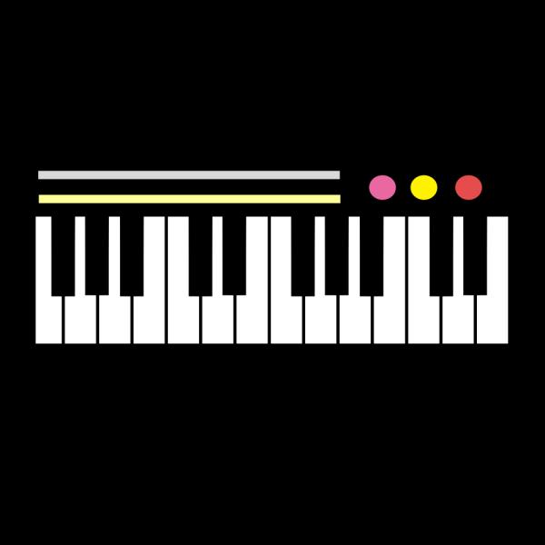 ピアノキーボードのイラスト かわいいフリー素材が無料のイラストレイン