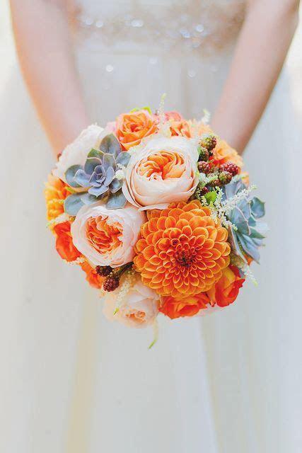 Southern Blue Celebrations: ORANGE WEDDING FLOWER BOUQUETS
