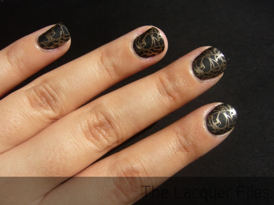 ManGlaze Matte is Murder stamped with Konad Imageplate M70 and China Glaze 2030