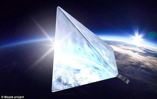 Astronomers have slammed the Mayak satellite (pictured), which is no larger than a rugby ball, calling it a 'nonsense' project that could 'ruin' dark skies for everyone