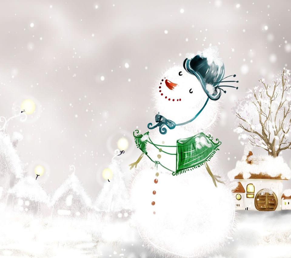 雪だるま Androidスマホ用壁紙 Wallpaperbox
