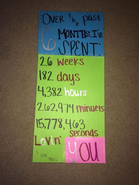 6 month anniversary card idea   ?Lets have a Date?   Diy