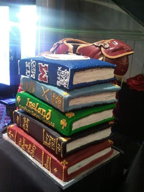 Stacked Book Cake   CakeCentral.com