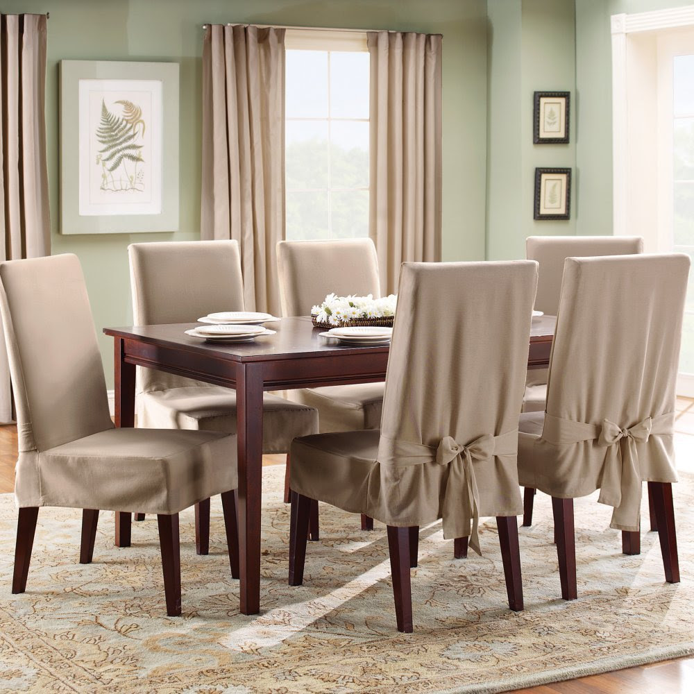 Linen Dining Chair Slipcovers Large And Beautiful Photos Photo