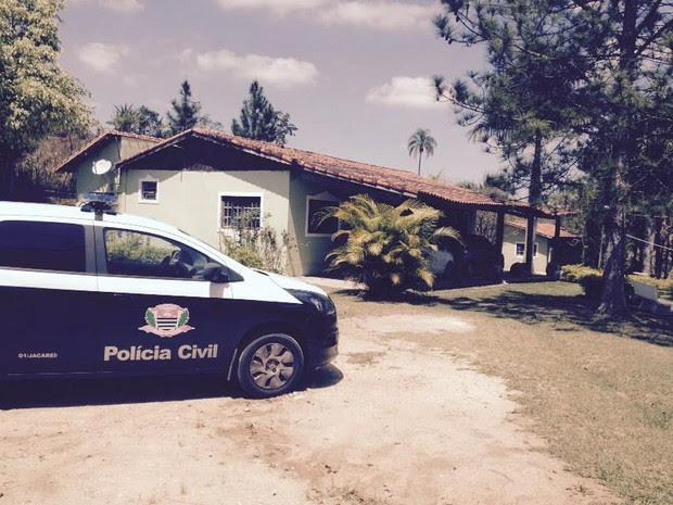 Casa onde a droga foi encontrada na zona rural de Jacareí (Foto: Divulgação/Dise)