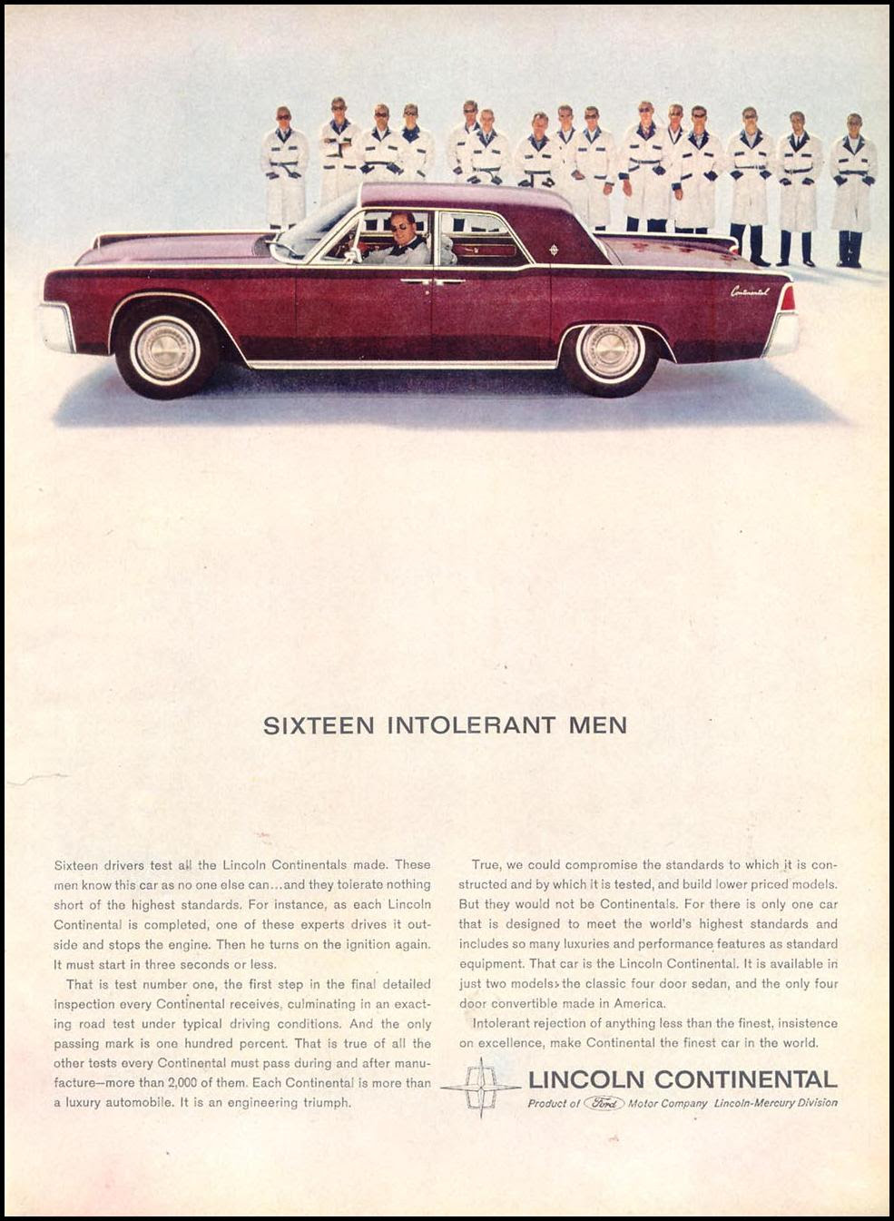 LINCOLN AUTOMOBILES TIME 12/07/1962 p. 55