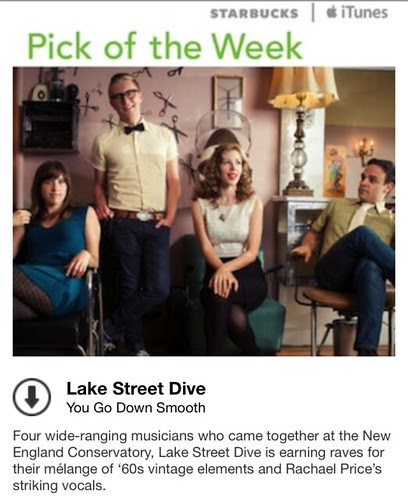 Starbucks iTunes Pick of the Week - Lake Street Dive - You Go Down Smooth