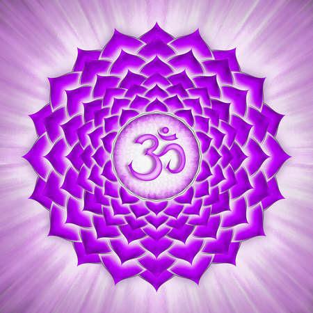 Resultado de imagen de imagen Chakra de la corona.
