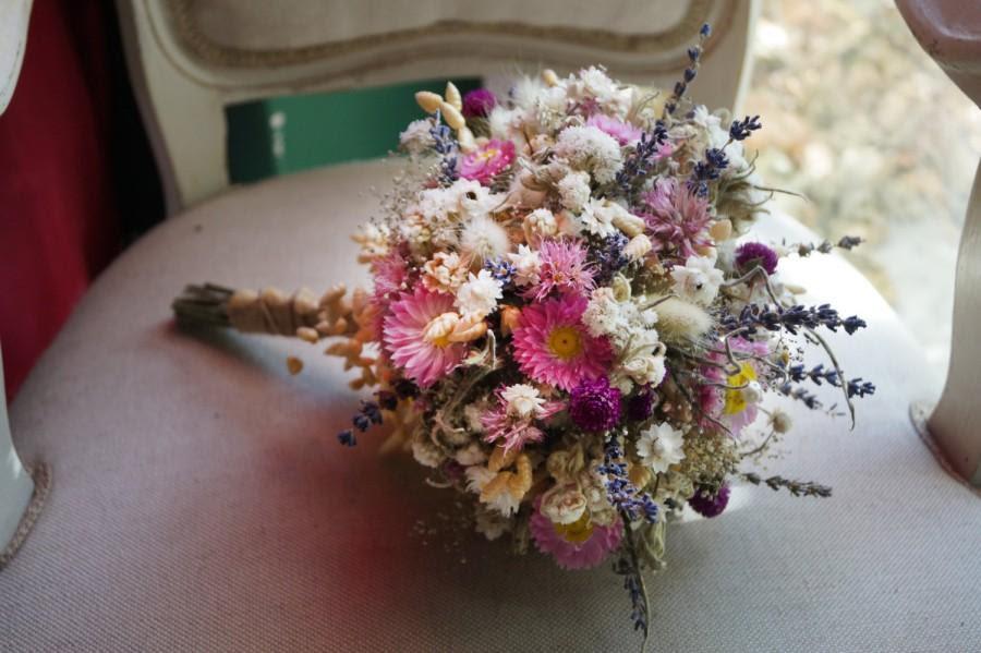 Autumn Wedding Bouquet Pink Bridal Bouquet Rustic Bouquet Woodland Sola Flower Bouquet Dried Flowers Wild Flowers Romantic Weddings 2672100 Weddbook
