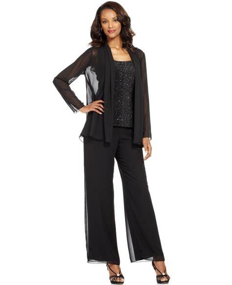 patra evening suit sleeveless beaded top chiffon jacket