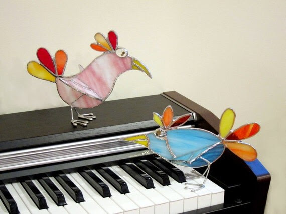 Celia the 3D Stained Glass Stand-Up Bird 247