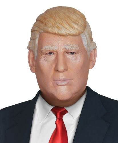 Trump and Clinton Halloween Costumes - Choose Edgy or Funny - HALLOWEEN ADULT PRESIDENT DONALD TRUMP MASK PROP POTUS