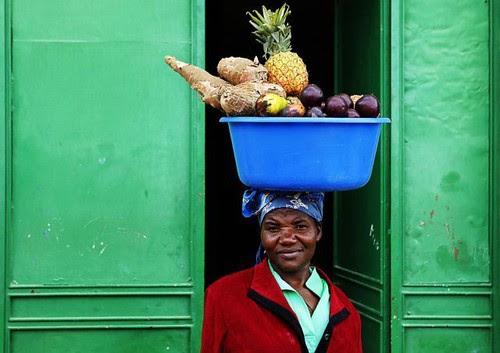Woman & fruit